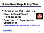if you need help at any time