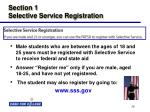 section 1 selective service registration