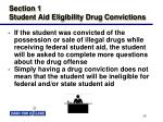 section 1 student aid eligibility drug convictions18