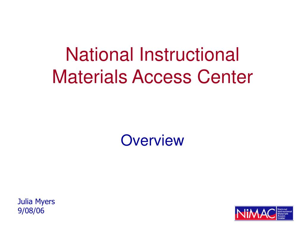 national instructional materials access center l.
