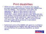 print disabilities