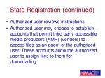 state registration continued25