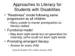 approaches to literacy for students with disabilities