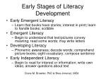 early stages of literacy development