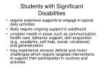students with significant disabilities