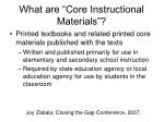 what are core instructional materials