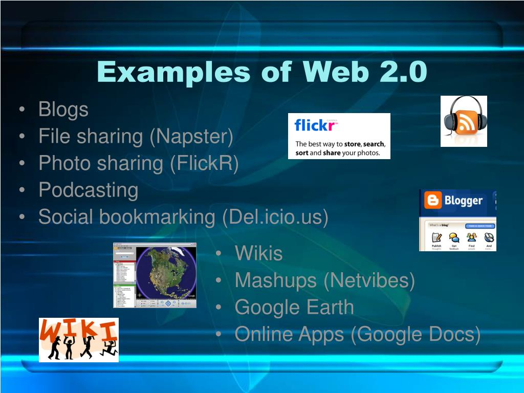 Examples of Web 2.0