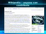 wikipedia anyone can contribute
