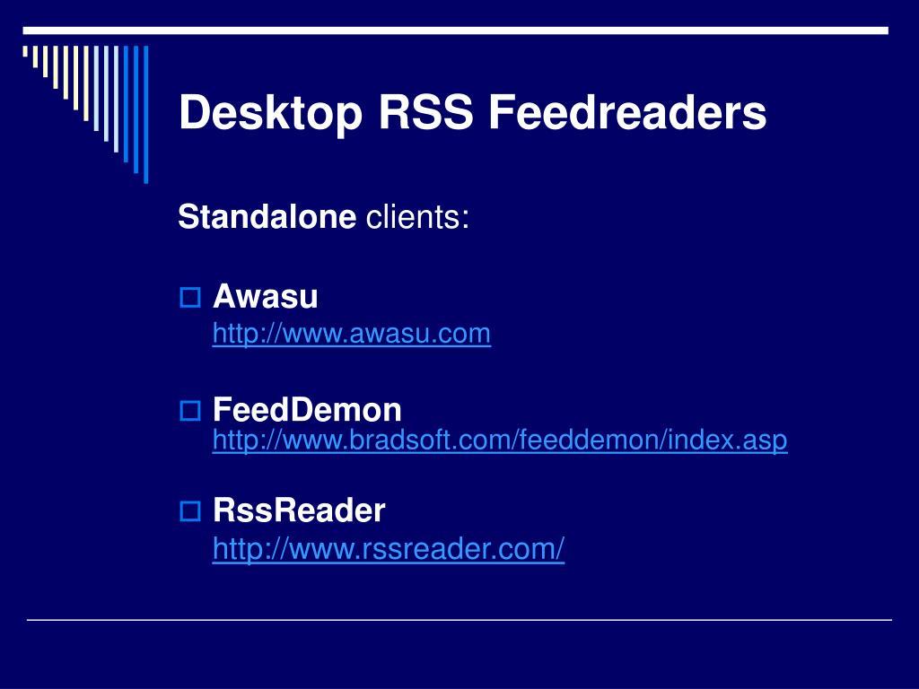 Desktop RSS Feedreaders
