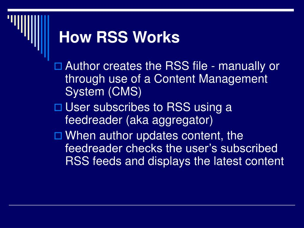 How RSS Works