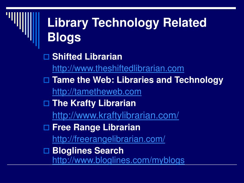 Library Technology Related Blogs