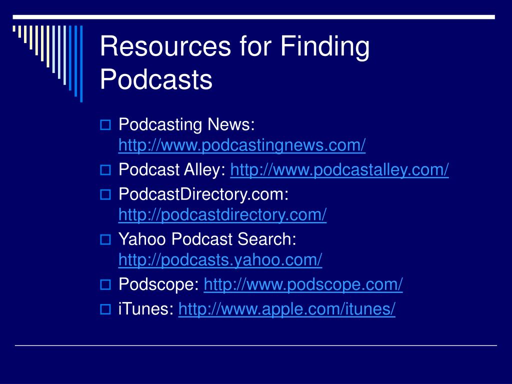 Resources for Finding Podcasts