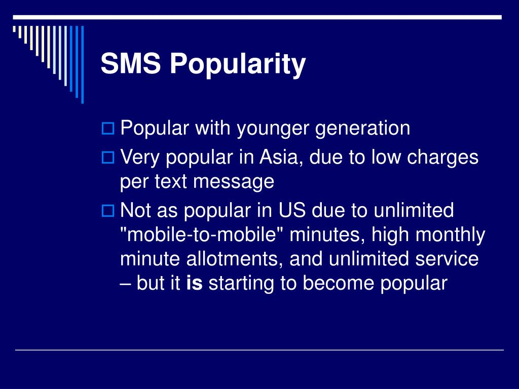 SMS Popularity