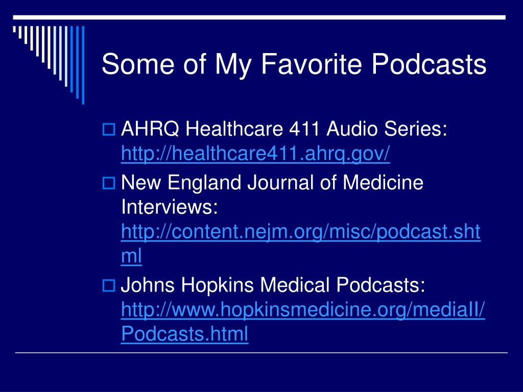 Some of My Favorite Podcasts