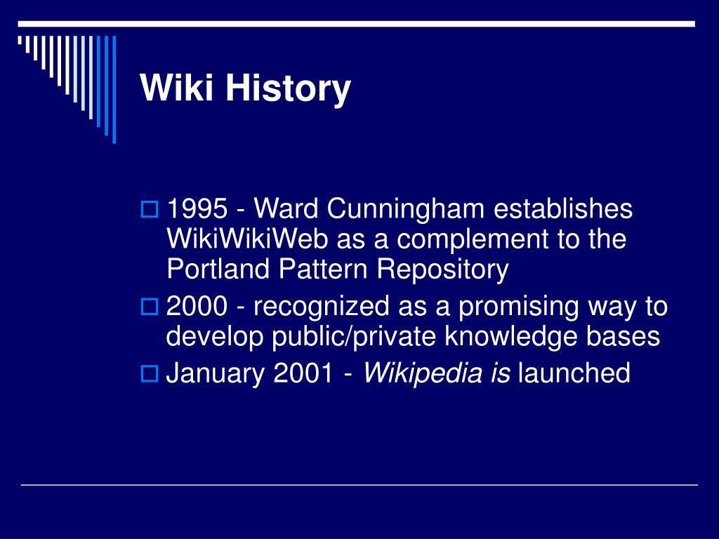 Wiki History