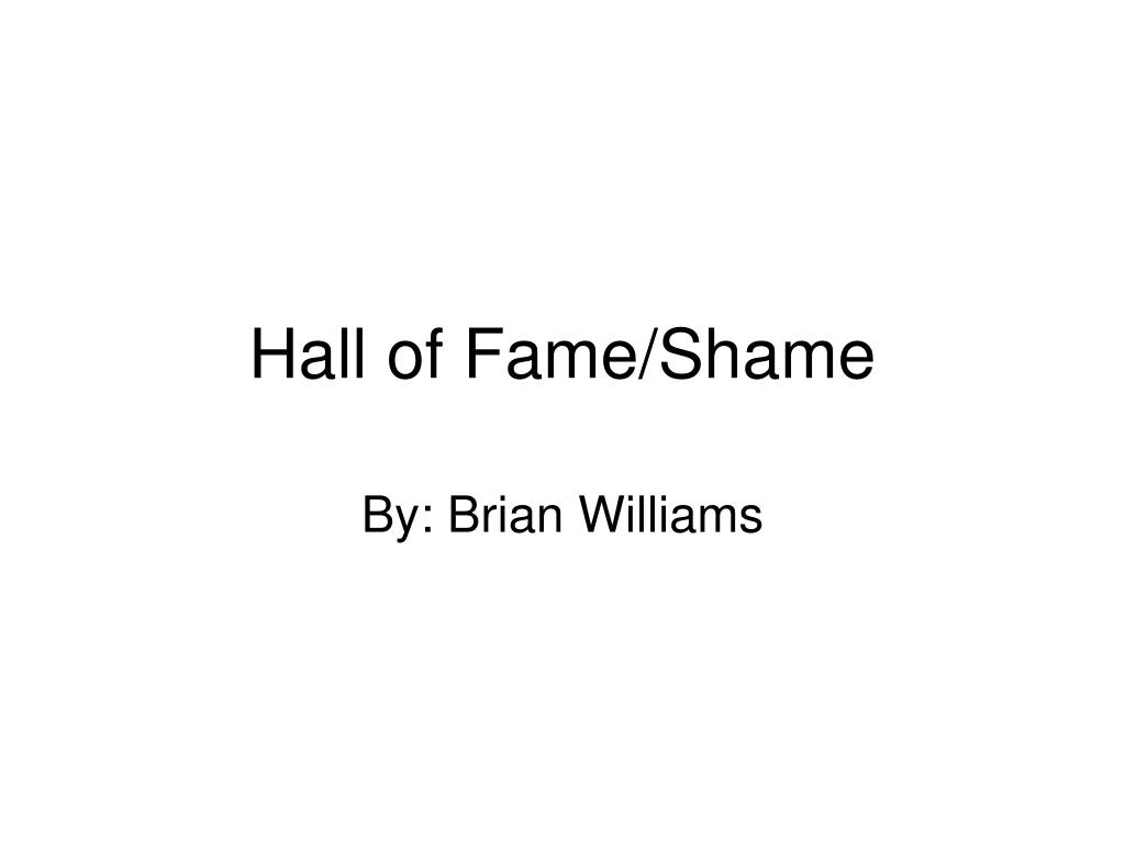 hall of fame shame l.