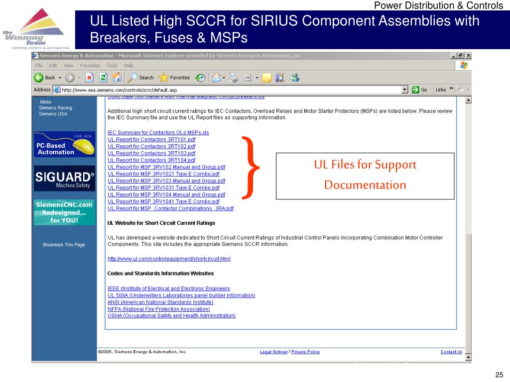 UL Listed High SCCR for SIRIUS Component Assemblies with Breakers, Fuses & MSPs