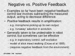 negative vs positive feedback
