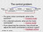 the control problem
