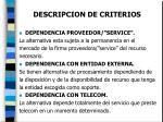 descripcion de criterios14