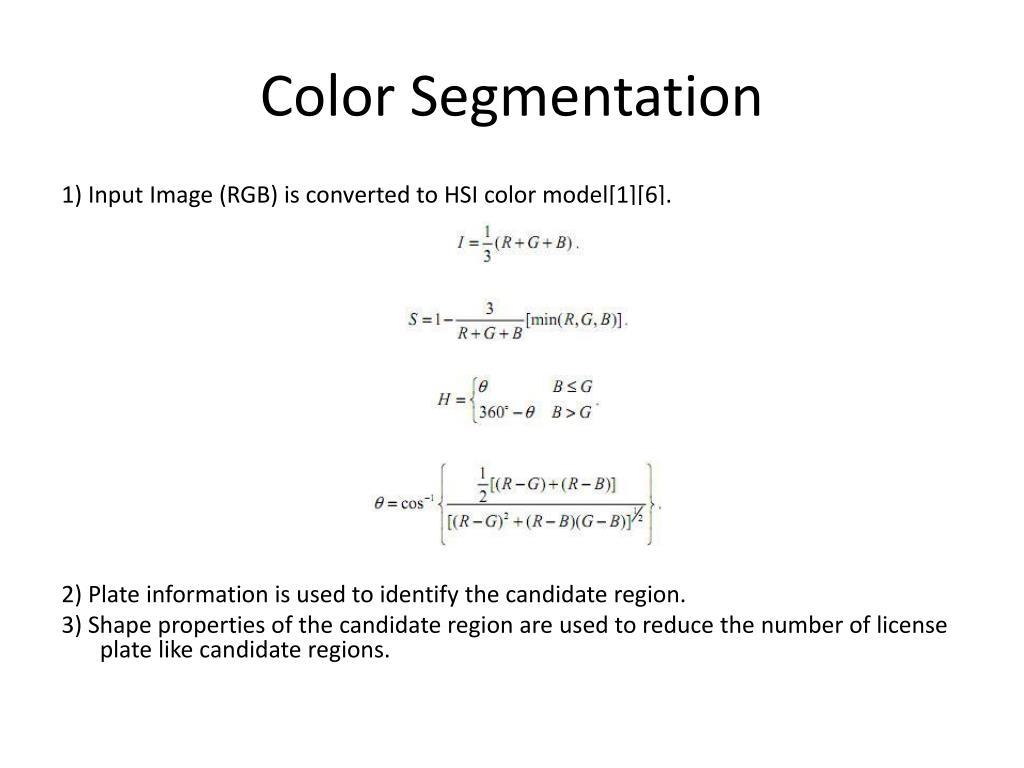 Color Segmentation