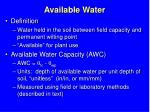 available water