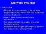 soil water potential