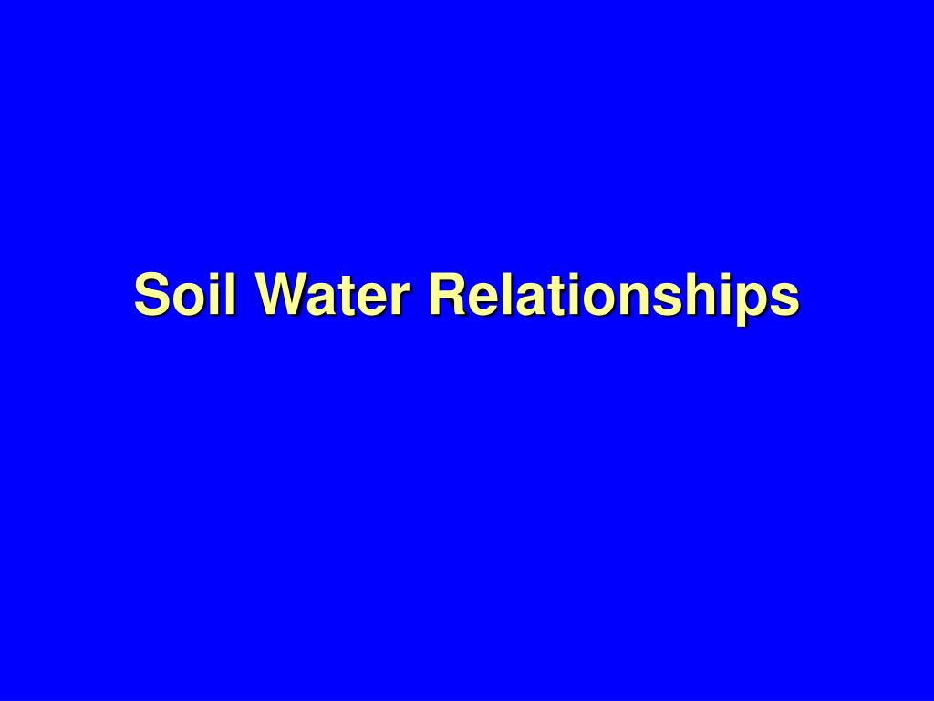 soil water relationships l.