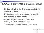 mcad a preventable cause of sids