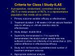 criteria for class i study ilae