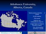 athabasca university alberta canada