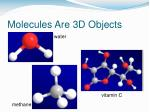 molecules are 3d objects