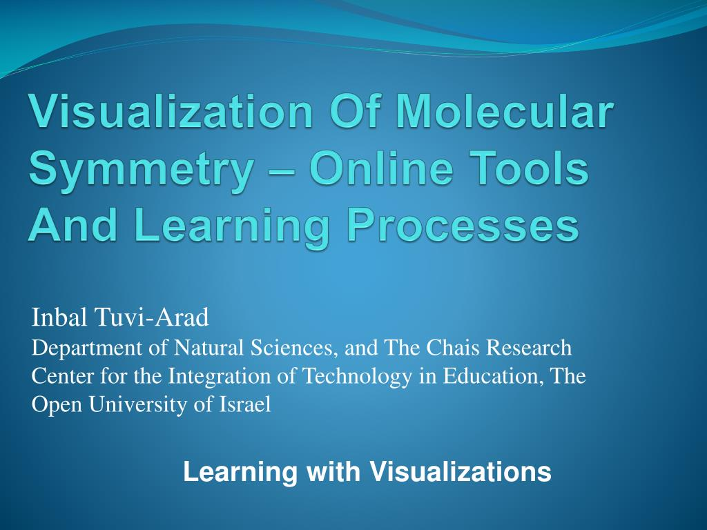 visualization of molecular symmetry online tools and learning processes l.