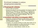 enrichment strategies to analyze phosphoproteins peptides