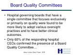 board quality committees