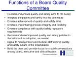 functions of a board quality committee