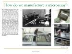 how do we manufacture a microarray5