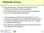 wavelength accuracy