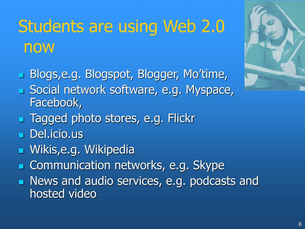 Students are using Web 2.0
