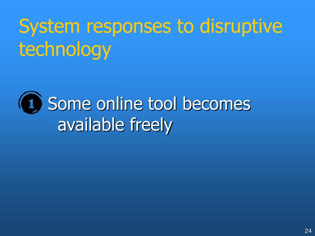 System responses to disruptive technology