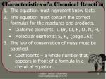characteristics of a chemical reaction