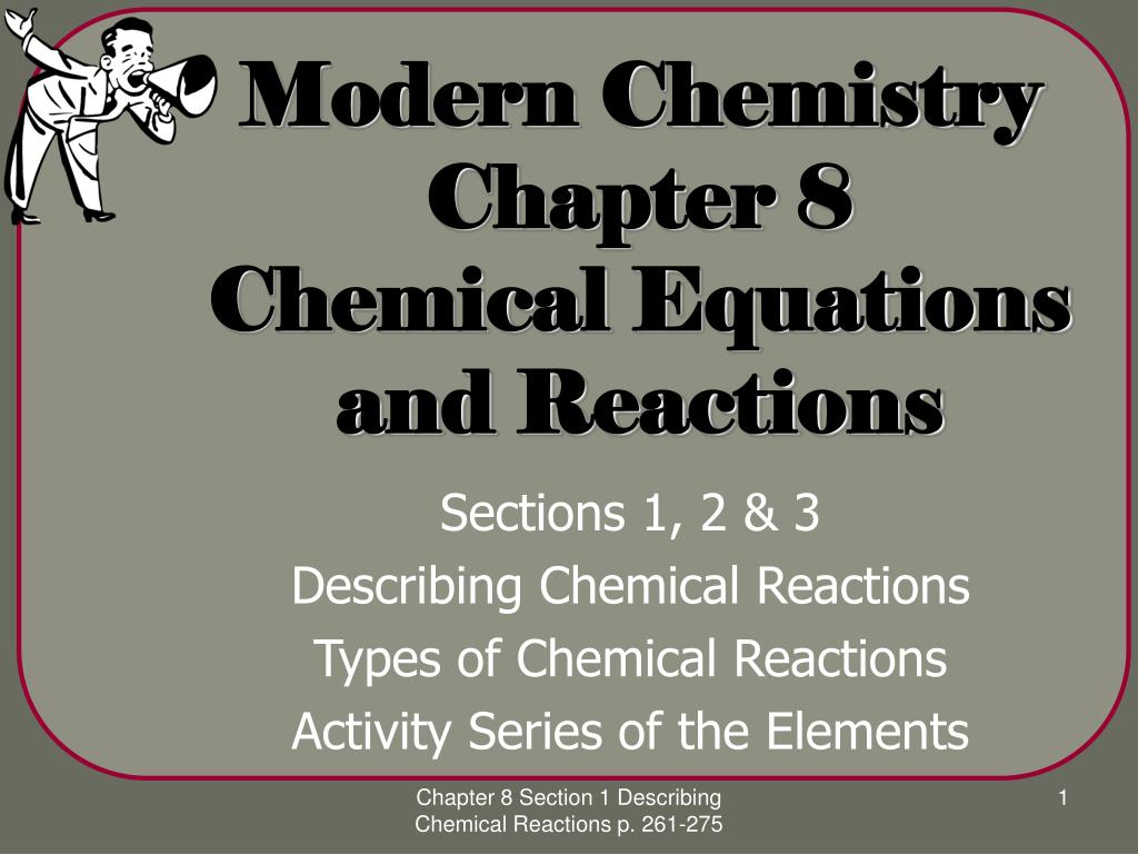 modern chemistry chapter 8 chemical equations and reactions l.