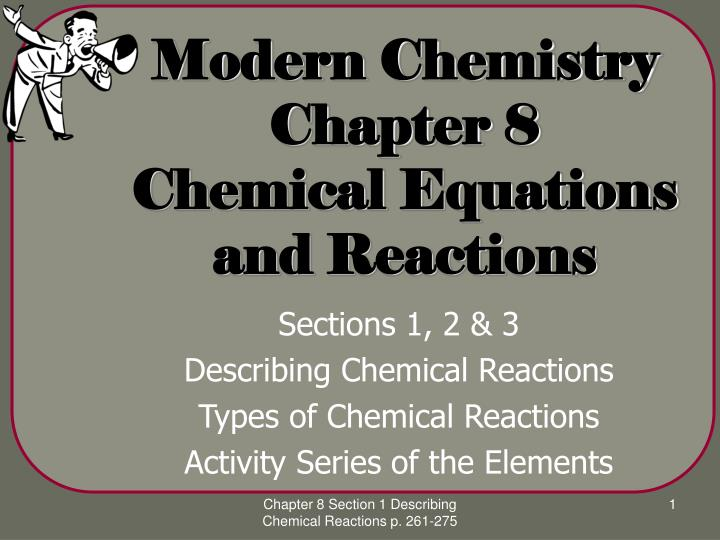 modern chemistry chapter 8 chemical equations and reactions n.