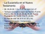 la eucarist a en el nuevo testamento