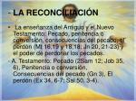 la reconciliaci n