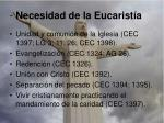 necesidad de la eucarist a