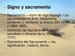 signo y sacramento