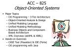 acc 825 object oriented systems