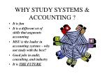 why study systems accounting