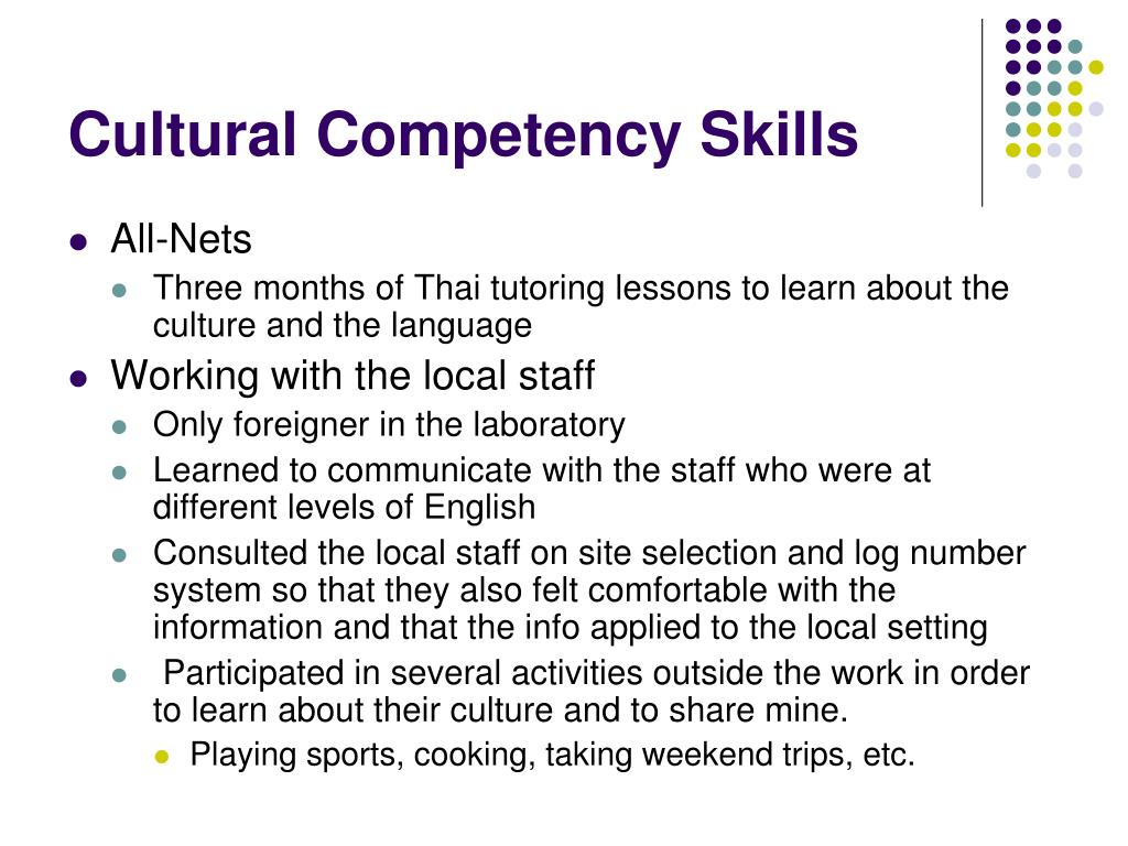 Cultural Competency Skills